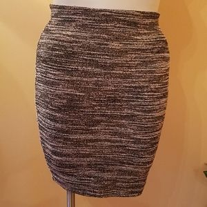 Express Knit Tweed Pull-on Style Skirt - Size S